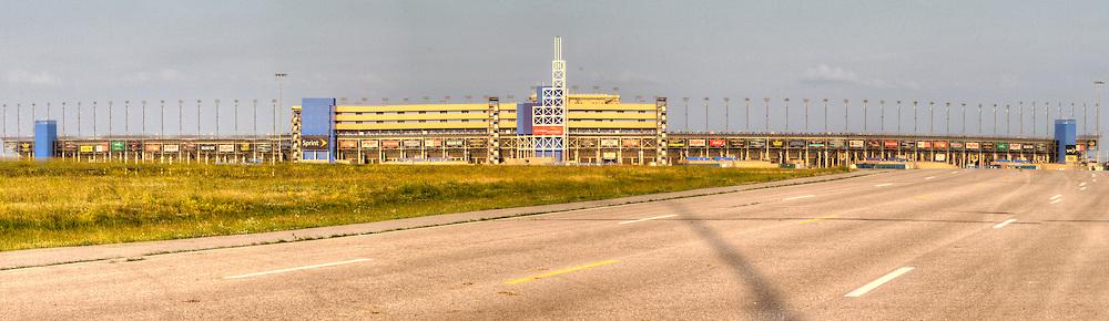 Panorama photos at Kansas Speedway in Kansas City, Kansas, taken as part of an assignment for Performance Automotive for website graphics use.