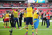 Arsenal's Per Mertesacker after the game during the The FA Cup match between Arsenal and Aston Villa at Wembley Stadium, London, England on 30 May 2015. Photo by Phil Duncan.