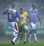 Carlisle - Saturday November 28th, 2009: Peter Murphy of Carlisle United and Korey Smith of Norwich City during the FA Cup second round match at Brunton Park, Carlisle. (Pic by Andrew Stunell/Focus Images)..