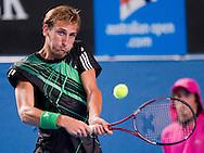 Thiemo de Bakker (NED)<br /> 2010 Australian Open Tennis<br /> Mens Singles<br /> First Round<br /> 18/01/10<br /> &quot;Hisense Arena&quot; Melbourne Park, Melbourne, Victoria, Australia<br /> Photo By Lucas Wroe
