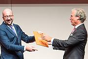 Brussel 5 Oktober 2015<br /> <br /> Inaugurale rede van Paul Kumpen als nieuwe voorzitter van Voka // Discours inaugural de Paul Kumpen en tant que nouveau president du Voka.<br /> <br /> Pix Charles MICHEL , Michel DELBAERE<br /> <br /> Credit Melanie Wenger / Isopix *** local caption *** 22267368
