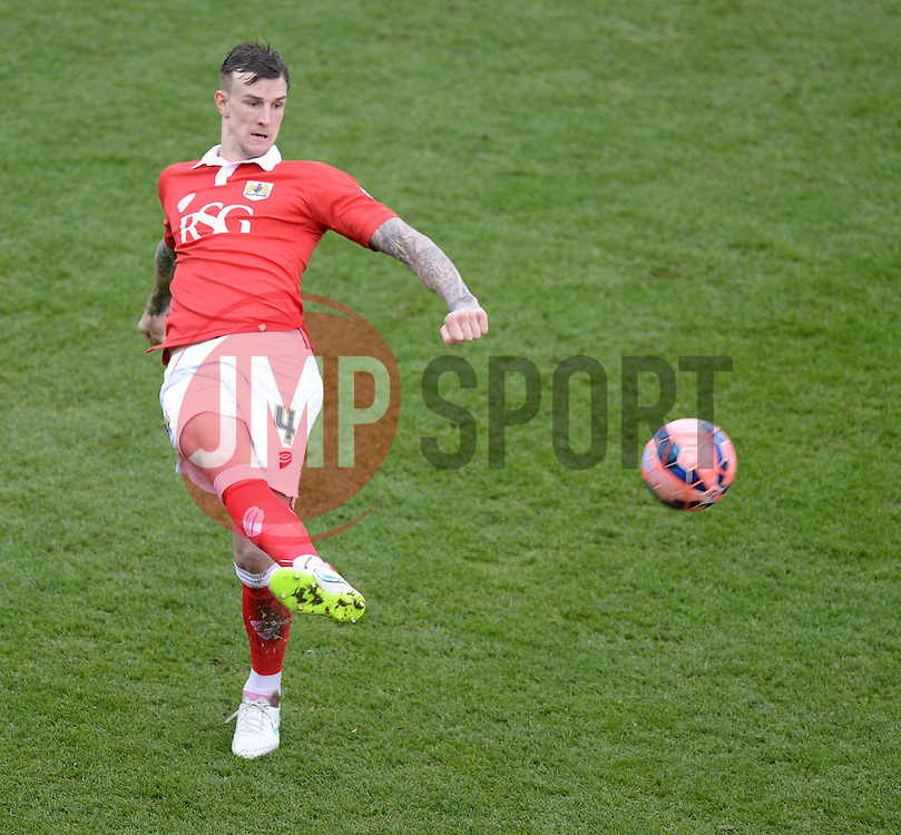 Bristol City's Aden Flint - Photo mandatory by-line: Alex James/JMP - Mobile: 07966 386802 - 25/01/2015 - SPORT - Football - Bristol - Ashton Gate - Bristol City v West Ham United - FA Cup Fourth Round