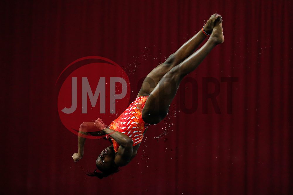 Eventual Winner Rhea Gayle of Plymouth Diving competes in the Womens 1m Synchronised Springboard Final - Photo mandatory by-line: Rogan Thomson/JMP - 07966 386802 - 20/02/2015 - SPORT - DIVING - Plymouth Life Centre, England - Day 1 - British Gas Diving Championships 2015.