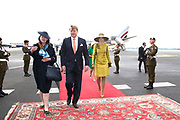 Staatsbezoek aan Luxemburg dag 1 / State visit to Luxembourg day 1<br /> <br /> Op de foto / On the photo: Aankomst op Vliegveld Luxemburg met Koning Willem Alexander en Koningin Maxima  / Arrival at Airport Luxembourg with King Willem Alexander and Queen Maxima