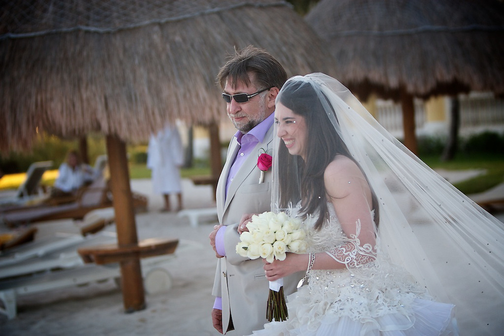 Jerome and Nathalie celebrate their wedding with family and friends in Mexico on December 10th, 2010.