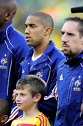 Gael Clichy lines up before the 2010 World Cup Soccer match between South Africa and France played at the Freestate Stadium in Bloemfontein South Africa on 22 June 2010.