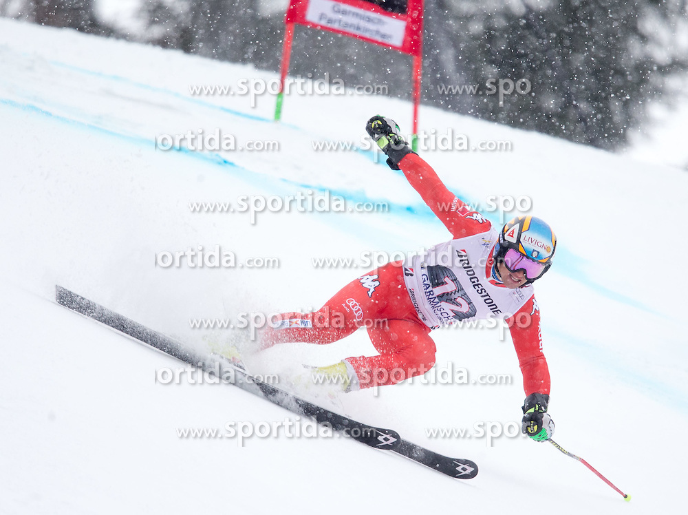 01.03.2015, Kandahar, Garmisch Partenkirchen, GER, FIS Weltcup Ski Alpin, Riesenslalom, Herren, 1. Lauf, im Bild Roberto Nani (ITA) // Roberto Nani of Italy in action during 1st run for the men's Giant Slalom of the FIS Ski Alpine World Cup at the Kandahar course, Garmisch Partenkirchen, Germany on 2015/03/01. EXPA Pictures © 2015, PhotoCredit: EXPA/ Johann Groder
