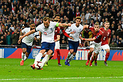 Goal - Harry Kane of England scores a goal from the penalty spot to give a 2-0 lead to the home team during the UEFA European 2020 Qualifier match between England and Czech Republic at Wembley Stadium, London, England on 22 March 2019.