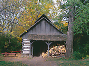 BB08213-00...WISCONSIN - Maple Sugering House replica at Heritage Hill State Historical Park near Green Bay.
