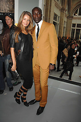 Fashion designer OZWALD BOATENG and his wife GYUNEL at Fashion Fringe 2007 held at 1 The Piazza, Covent Garden, London on 20th September 2007.<br />