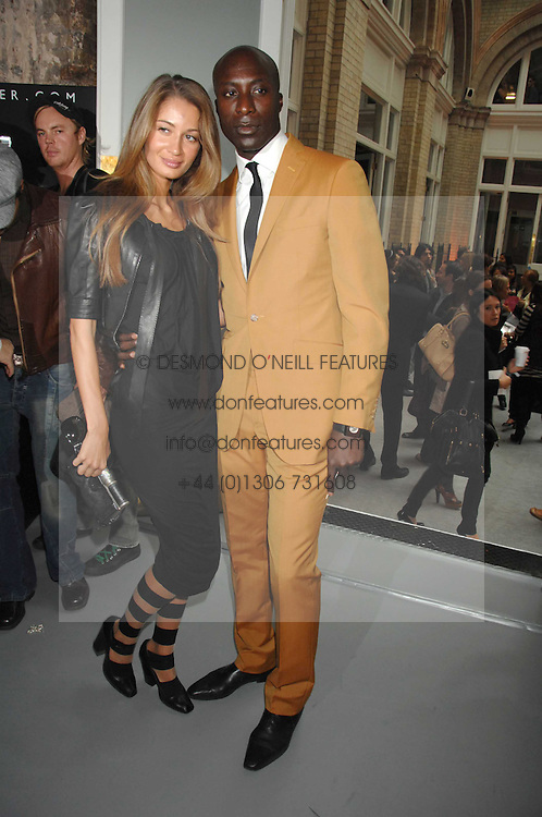 Fashion designer OZWALD BOATENG and his wife GYUNEL at Fashion Fringe 2007 held at 1 The Piazza, Covent Garden, London on 20th September 2007.<br /><br />NON EXCLUSIVE - WORLD RIGHTS
