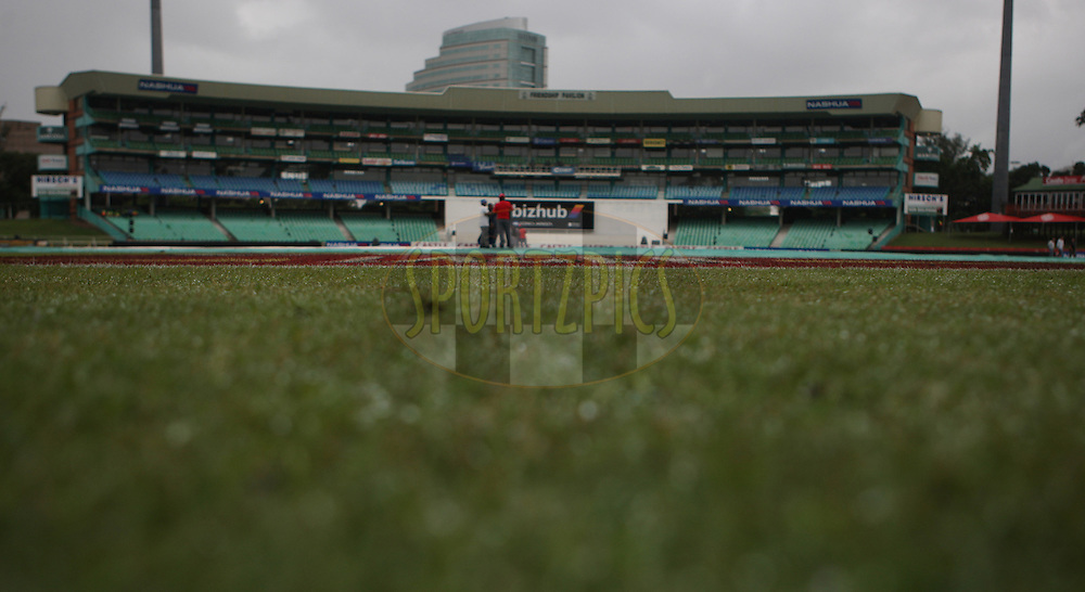 A very wet Sahara Stadium,Kingsmead Durban at 7.45 am during day 1 of the second test match between South Africa and India held at Kingsmead Stadium in Durban on Boxing Day, 26th December...Photo by Steve Haag/BCCI/SPORTZPICS