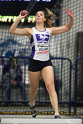 Windsor, Ontario ---2015-03-12--- Sarah Villani of  Western competes in the heptathlon shot put at the 2015 CIS Track and Field Championships in Windsor, Ontario, March 15, 2015.<br /> GEOFF ROBINS/ Mundo Sport Images