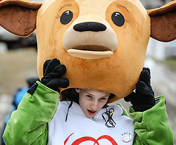 23.03.2017, Ramsau am Dachstein, AUT, Special Olympics 2017, Wintergames, Langlauf, Finale 500 m Freestyle, im Bild das Maskottchen Luis // the mascot Luis during the Cross Country Final 500 m Freestyle at the Special Olympics World Winter Games Austria 2017 in Ramsau am Dachstein, Austria on 2017/03/23. EXPA Pictures © 2017, PhotoCredit: EXPA / Martin Huber