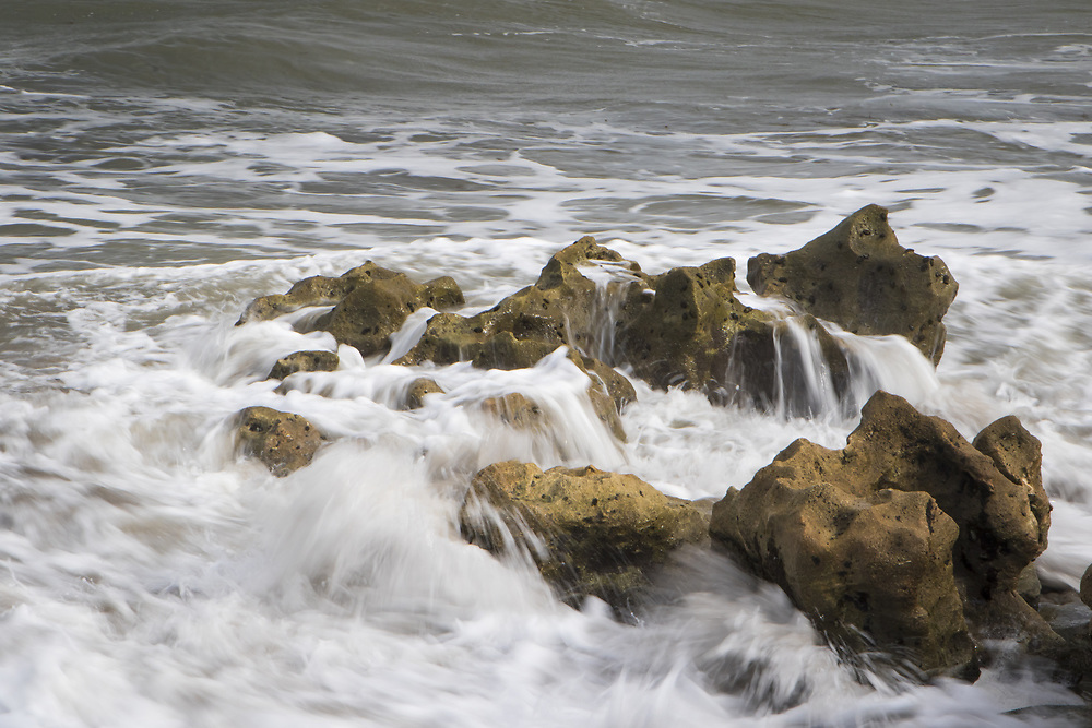 Oct. 31, 2017: Waves crash along the rocks at Blowing Rocks Preserve in Jupiter, FL. (www.douglasjonesphotography.com)