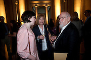 ROSE BLAKE; LADY BLAKE; SIR PETER BLAKE, Opening of Rude Britannia. Tate Britain. Millbank. London. 7 June 2010. -DO NOT ARCHIVE-© Copyright Photograph by Dafydd Jones. 248 Clapham Rd. London SW9 0PZ. Tel 0207 820 0771. www.dafjones.com.