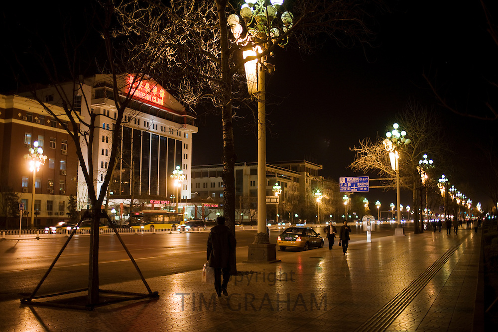 Chang An Avenue in central Beijing, China