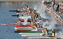 START IN MEN'S K1 5000 METERS FINAL A RACE DURING 2010 ICF KAYAK SPRINT WORLD CHAMPIONSHIPS ON MALTA LAKE IN POZNAN, POLAND...POLAND , POZNAN , AUGUST 21, 2010..( PHOTO BY ADAM NURKIEWICZ / MEDIASPORT ).