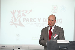 NEWPORT, WALES - Saturday, April 20, 2013: Chief-Executive Jonathan Ford at the opening of the FAW National Development Centre in Newport. (Pic by David Rawcliffe/Propaganda)