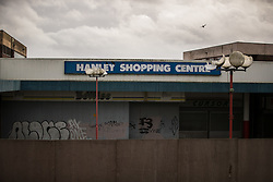 © Licensed to London News Pictures . 03/02/2017. Stoke-on-Trent, UK . The long-derelict Hanley Shopping Centre in Hanley town centre in the constituency of Stoke-on-Trent Central . The by-election in the constituency is due to take place on 23rd February . Photo credit: Joel Goodman/LNP