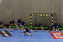 Slovenia's Warming up prior to the handball match between National teams of Slovenia and Portugal in the Qualifications of the EHF EURO 2012, on October 27, 2010 at Arena Zlatorog, Celje, Slovenia. (Photo By Vid Ponikvar / Sportida.com)