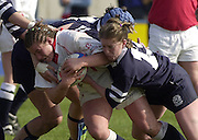 © Peter Spurrier/ Intersport Images.email images@Intersport-mages.com.Photo Peter Spurrier.22/03/2003.RBS Six Nations Women's Rugby England v Scotland.England No. 6 Georgia Stevens crash's throug the Scottish line