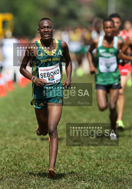KAMPALA, UGANDA - MARCH 26: Kabelo Seboko of South Africa during the U20 men race of the 2017 Kampala IAAF World Cross Country Championships on March 26, 2017 in Kampala, Uganda. (Photo by Roger Sedres/ImageSA)