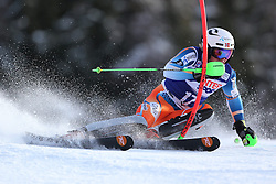 06.01.2014, Stelvio, Bormio, ITA, FIS Weltcup Ski Alpin, Bormio, Slalom, Herren, im Bild Henrik Kristoffersen // Henrik Kristoffersen  in action during mens Slalom of the Bormio FIS Ski World Cup at the Stelvio in Bormio, Italy on 2014/01/06. EXPA Pictures © 2014, PhotoCredit: EXPA/ Sammy Minkoff<br /> <br /> *****ATTENTION - OUT of GER*****