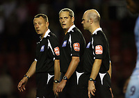 Photo: Rich Eaton.<br /> <br /> Bristol City v Manchester City. Carling Cup. 29/08/2007. Referee R J Beeby (c) who denied Bristol City a last minute equalizer.