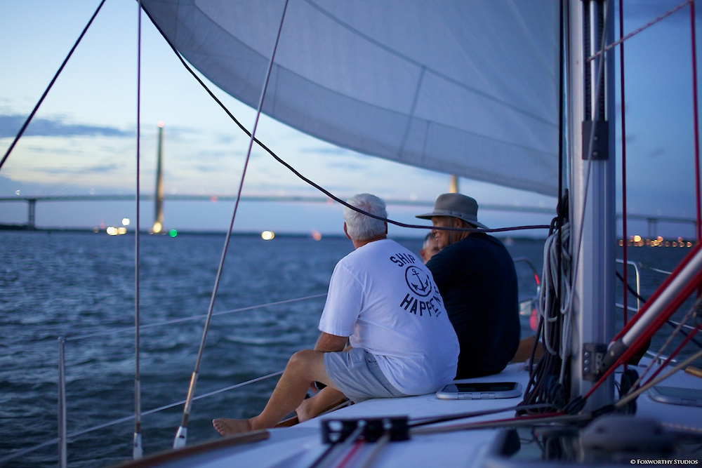 A delightful evening sail aboard the Emotional Rescue from Charleston Habor Marina
