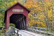 Bean Blossom Covered Bridge in Brown County, Indiana, USA