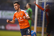 Luton Towns Dan Potts celebrates Danny Hyltons second half goal during the EFL Sky Bet League 2 match between Luton Town and Barnet at Kenilworth Road, Luton, England on 24 March 2018. Picture by Ian  Muir.