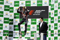 27.11.2011, Autodromo Jose Carlos Pace, Sao Paulo, BRA, F1, Grosser Preis von Brasilien, im Bild Podium - Mark Webber (AUS), Red Bull Racing // during the Formula One Championships 2011 Grand Prix of Brazil held at the Autodromo Jose Carlos Pace, Sao Paulo, Brazil on 2011/11/27. EXPA Pictures © 2011, PhotoCredit: EXPA/ nph/ Mathi ..***** ATTENTION - OUT OF GER, CRO *****