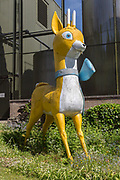 Babycham chamois trade mark mascot model, Showerings cider mill, Shepton Mallet, Somerset, England, UK