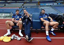 November 23, 2018 - Rome, Italy - Rugby Italy captains run - Cattolica Test Match.Tommaso Benvenuti and Tito Tebaldi  with the technical staff at Olimpico Stadium in Rome, Italy on November 23, 2018. (Credit Image: © Matteo Ciambelli/NurPhoto via ZUMA Press)