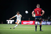 Maxime MACHENAUD (Racing Metro 92) scored a penalty, Dave Kilcoyne (Munster Rugby) during the European Rugby Champions Cup, Pool 4, Rugby Union match between Racing 92 and Munster Rugby on January 14, 2018 at U Arena stadium in Nanterre, France - Photo Stephane Allaman / ProSportsImages / DPPI