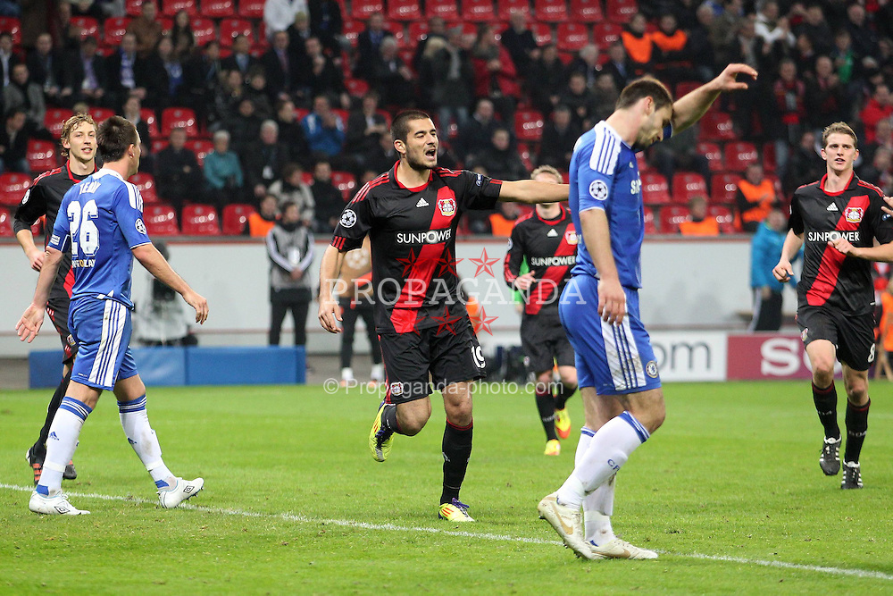 23.11.2011, BayArena, Leverkusen, Germany, UEFA CL, Gruppe E, Bayer 04 Leverkusen (GER) vs Chelsea FC (ENG), im Bild Torjubel/ Jubel nach dem 1:1 durch Eren Derdiyok (Leverkusen #19) (M) // during the football match of UEFA Champions league, group E, between Bayer Leverkusen (GER) and FC Chelsea (ENG) at BayArena, Leverkusen, Germany on 2011/11/23.EXPA Pictures © 2011, PhotoCredit: EXPA/ nph/ Mueller..***** ATTENTION - OUT OF GER, CRO *****