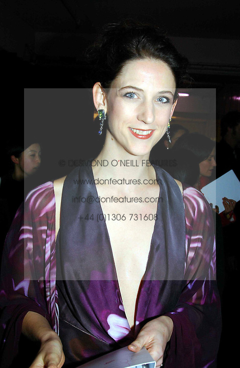 Fashion designer MARIA GRACHVOGEL at Fashion Fringe - part of London fashion week held at the Selfridges Car Park, off Oxford Street, London on 22nd September 2004.<br />