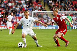 Alex Prichard of England attacks - Photo mandatory by-line: Matt McNulty/JMP - Mobile: 07966 386802 - 11/06/2015 - SPORT - Football - Barnsley - Oakwell Stadium - England U21 v Belarus U21 - International Friendly U21s