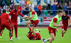 ROTTACH-EGERN, GERMANY - Friday, July 28, 2017: Liverpool's captain Jordan Henderson during a training session at FC Rottach-Egern on day three of the preseason training camp in Germany. (Pic by David Rawcliffe/Propaganda)