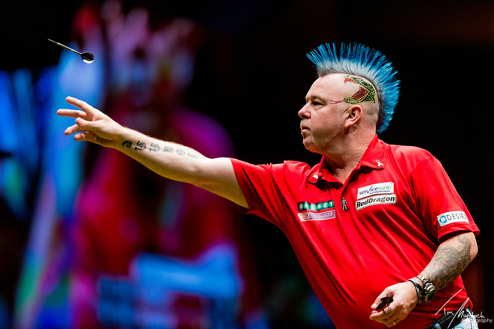 MELBOURNE, Australia - Sunday 20 August 2017:  Peter Wright during the final of the Unibet Melbourne Dart Masters at Hisense Arena on Sunday 20 August 2017.<br /> <br /> Photo Credit: Tim Murdoch/Tim Murdoch Photography