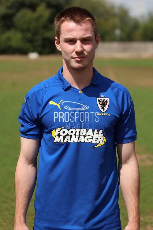 AFC Wimbledon Kosta Sparta (29) during the AFC Wimbledon 2018/19 official photocall at the Kings Sports Ground, New Malden, United Kingdom on 31 July 2018. Picture by Matthew Redman.