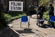 Christchurch United Reform Church, East Dulwich that serves as a temporary Polling station for voters on Britain's general election day.