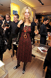 MARYAM D'ABO at a Champagne & chocolate party hosted by Roger Vivier at their store in Sloane Street, London on 12th February 2009.  The evening was in aid of The Silver Lining charity.