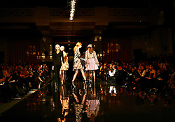 UK ENGLAND LONDON 14FEB07 - Models on the catwalk during the BIBA show at London Fashion Week at the Freemason's Hall, Covent Garden, central London.. . jre/Photo by Jiri Rezac. . © Jiri Rezac 2007. . Contact: +44 (0) 7050 110 417. Mobile:  +44 (0) 7801 337 683. Office:  +44 (0) 20 8968 9635. . Email:   jiri@jirirezac.com. Web:    www.jirirezac.com. . © All images Jiri Rezac 2007 - All rights reserved.