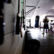 Saturday morning boxing a Sweet Z's Gym in Kansas City, KS. Aug. 24, 2013.