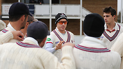 Somerset captain Chris Rogers talks to the team prior to the start of the game.  - Mandatory by-line: Alex Davidson/JMP - 04/04/2016 - CRICKET - Taunton Vale Cricket Club - Taunton , England - Somerset County Cricket Club v Lancashire County Cricket Club - Pre Season