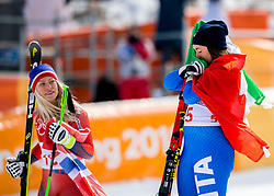 21-02-2018 KOR: Olympic Games day 12, PyeongChang<br /> Ladies Downhill at Jeongseon Alpine Centre / Gold medal for Sofia Goggia, of Italy, Ragnhild Mowinckel, of Norway,
