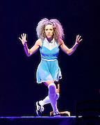 The Mad Hatter's Tea Party <br /> by Zoo Nation<br /> directed by Kate Prince<br /> presented by Zoo Nation, The Roundhouse & The Royal Opera House<br /> at The Roundhouse, London, Great Britain <br /> rehearsal <br /> 29th December 2016 <br /> <br /> <br /> <br /> Kayla Lomas-Kirton as Alice <br /> <br /> <br /> <br /> Photograph by Elliott Franks <br /> Image licensed to Elliott Franks Photography Services