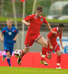 REYKJAVIK, ICELAND - Wednesday, May 28, 2008: Wales' Ched Evans in action against Iceland on his debut during the international friendly match at the Laugardalsvollur Stadium. (Photo by David Rawcliffe/Propaganda)